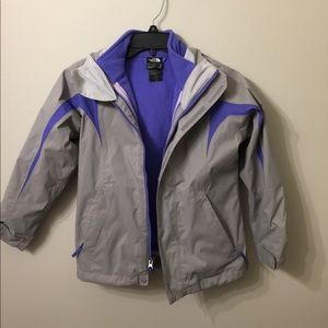 (1024).  The North Face girls coat.  Size S